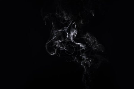 abstract creativity background with white smoke on black