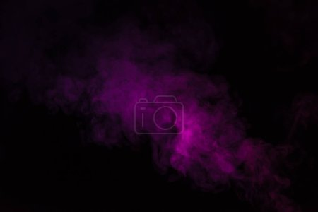 Photo for Abstract black background with pink steam - Royalty Free Image