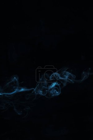 blue smoky swirl on black background
