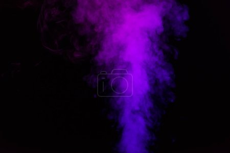 mystical black background with violet smoke