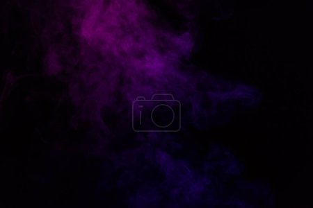 spiritual black background with purple smoke