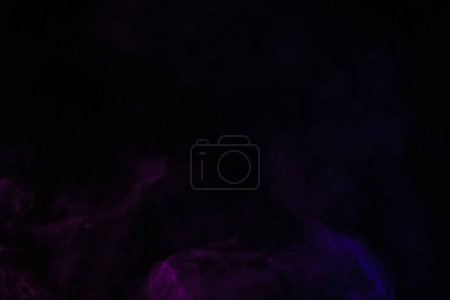 abstract creative black background with violet smoke