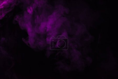 abstract fantasy black background with violet smoke