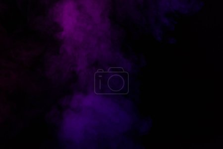 abstract black background with violet steam