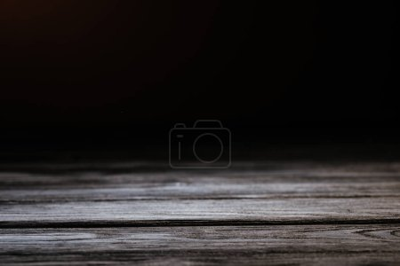 grey rustic wooden surface isolated on black