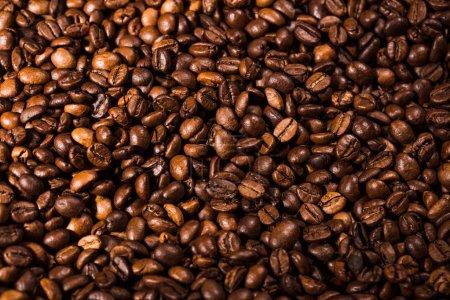 full frame shot of freshly roasted coffee beans