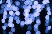 beautiful shiny blue defocused bokeh background