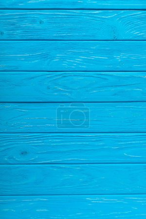 full frame image of blue wooden planks background