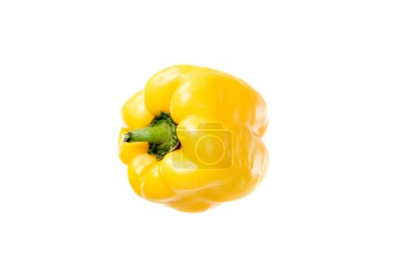 Photo for Fresh ripe yellow bell pepper isolated on white - Royalty Free Image