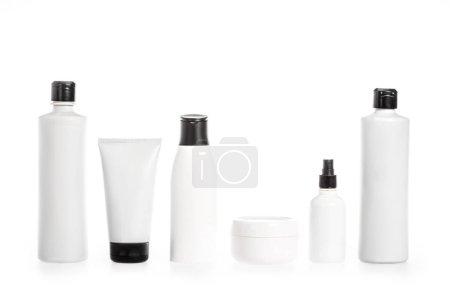 Photo pour Plan studio de récipients en plastique transparent isolés sur blanc - image libre de droit
