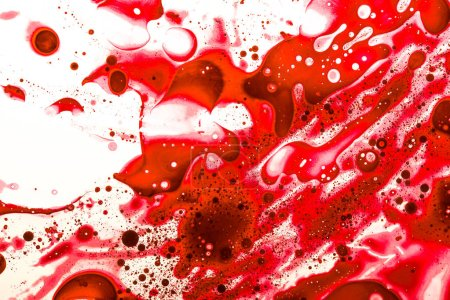 Photo for Abstract shot of red stains on white surface - Royalty Free Image