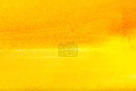 Photo for Top view of yellow watercolor spill with copy space - Royalty Free Image