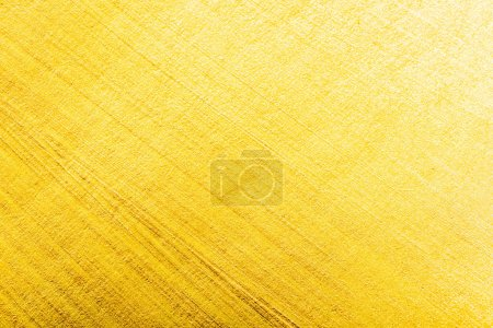 Photo for Top view of yellow watercolor brushstrokes with copy space - Royalty Free Image