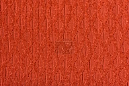 Photo for Coral textile fabric with pattern, color of 2019 concept - Royalty Free Image