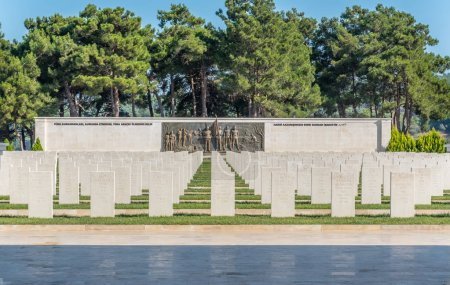 Akbas Martyrs Cemetery and Memorial in Canakkale,Turkey.TURKEY, Canakkale,18 August 2017