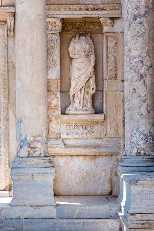 Episteme, knowledge  Statue  in Ephesus historical ancient city, in Selcuk,Izmir,Turkey.