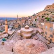 High resolution panoramic  landscape view of old Mardin city,a popular city for locals and tourist and located in southeastern of Turkey.