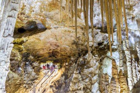 Interior view of Karaca cave located in Cebeli Village,Torul Town,Gumushane city,Turkey