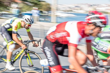 Cyclists racing in Istanbul Stage of 53rd Presidential Cycling Tour of Turkey.Istanbul,Turkey.15 October,2017