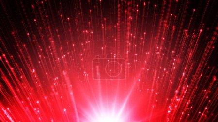 Photo pour Illustration d'un abstrait avec des particules incandescentes belles - image libre de droit