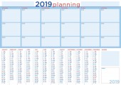 serious planning 2019 for office with calendar and daily schedule english language