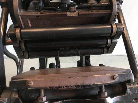 gros plan de vintage imprimerie