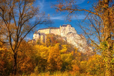 The medieval Orava Castle in autumn, Slovakia, Europe.