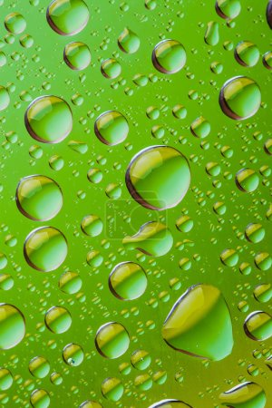 Background of a drop on glass. Macro