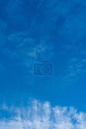 Photo for Cirrus white clouds on a blue sky. - Royalty Free Image