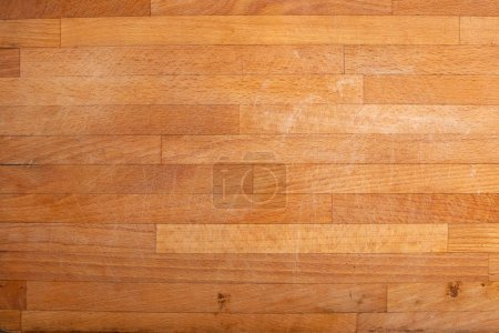 Photo for Old wooden scratched chopping board - Royalty Free Image