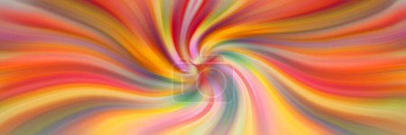 Photo for Bright holiday colors. Swirl of multi-colored stripes. Abstract rainbow background. - Royalty Free Image