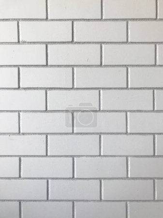 Photo for White brick wall pattern background. - Royalty Free Image