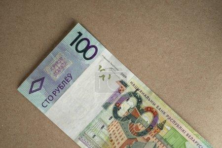 Cash Belarusian money after the devaluation. Salar...