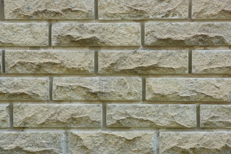 Photo for Grey brick wall texture, full frame background - Royalty Free Image
