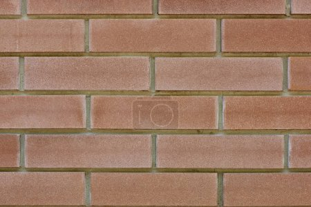 Photo for Close-up rough red brick wall texture, full frame background - Royalty Free Image