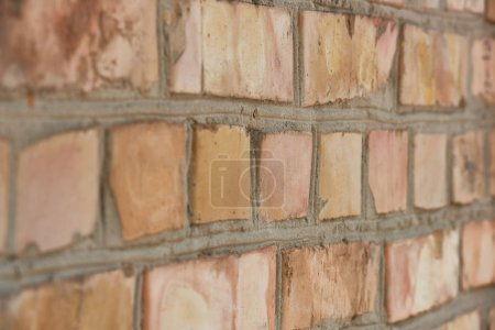 Photo for Close-up view of old weathered brick wall textured background - Royalty Free Image