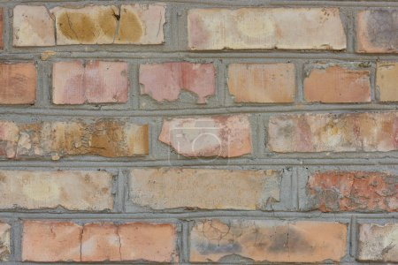 old weathered brick wall, full frame background