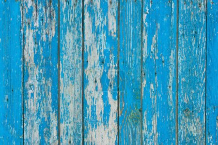 old scratched weathered blue wooden planks background