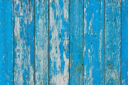 Photo pour Vieux gratté altéré bleu planches en bois fond - image libre de droit