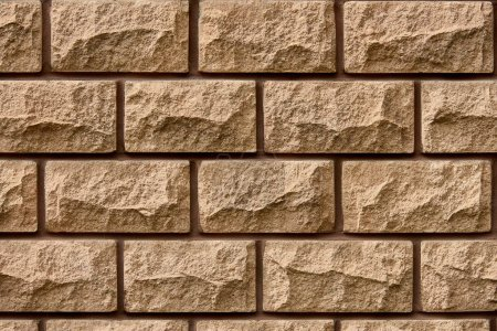 full frame view of brown brick wall textured background