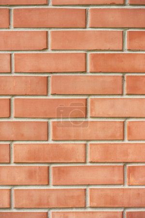 full frame view of red brick wall textured background