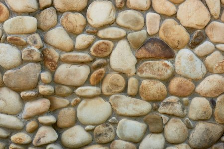 Photo for Rough weathered stone wall texture, full frame background - Royalty Free Image