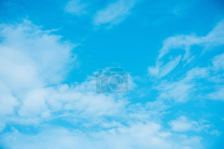 Photo for Beautiful light blue cloudy sky - Royalty Free Image