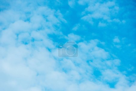 beautiful light blue sky with clouds in daytime