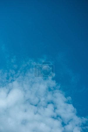 beautiful white clouds at light blue sky