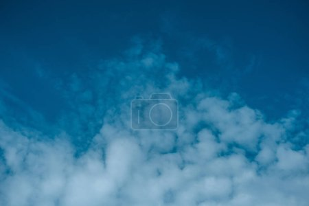 beautiful white clouds at blue sky