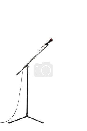 Photo pour Micro électrique isolé sur fond blanc - image libre de droit