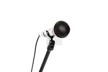 Photo pour Bouchent la vue micro électrique isolé sur blanc - image libre de droit
