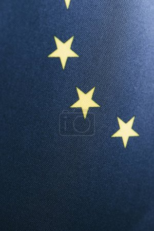 Photo for Blue european flag with yellow stars - Royalty Free Image