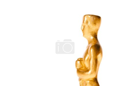 close up of golden oscar